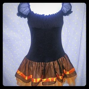 Halloween Dress/Costume With Wig and Tights Size S